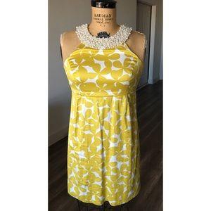 INC pearl bib dress